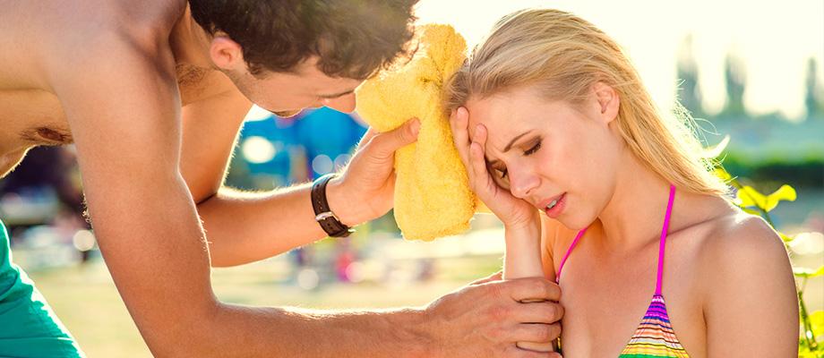 tomber malade en été - coup de froit - maladie des loisirs - coup de chaud - insolation - rhume d'été