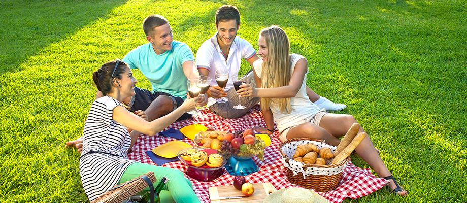 jardiner - pique-niquer - aller à un concert - se retrouver entre amis - barbecue - plaisirs simples - bienfaits santé - nature bien-être